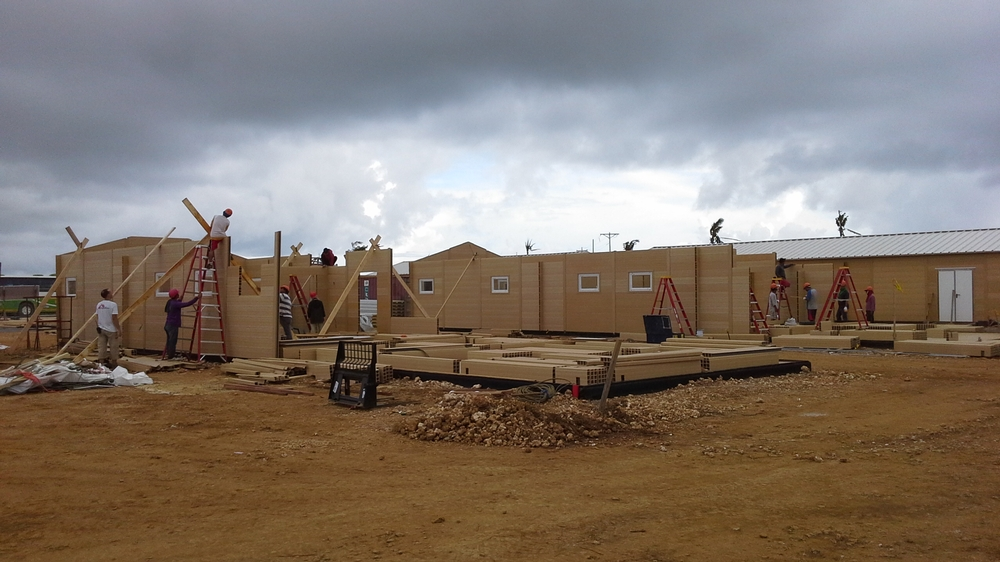 A prefabricated hospital in Guiuan which will take patients out of the tents – unsuitable in the rainy season – until a permanent hospital can be built.