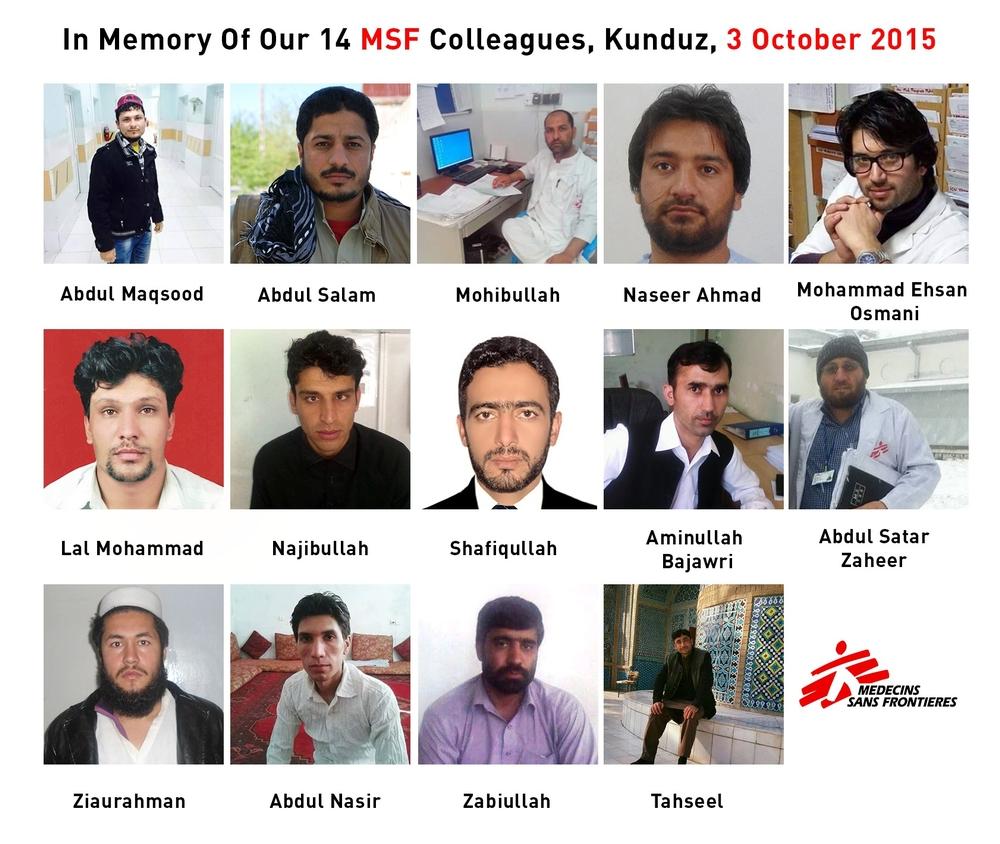 In Memoriam: MSF Colleagues Killed in the Kunduz Trauma Hospital Attack