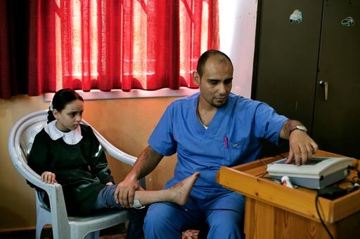 MSF post-operative clinic in Gaza