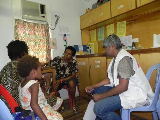 Visit by Dr. Unni Karunakara to Papua New Guinea