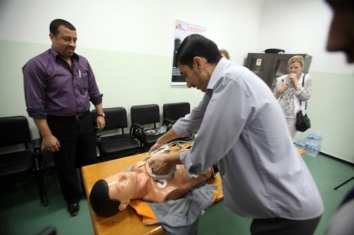 Intensive Care training, Al Shifa hospital, Gaza.