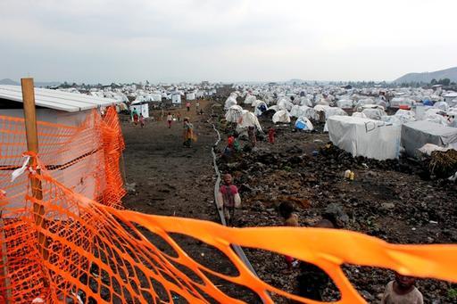 Mugunga IDP camp 3, west of Goma, the capital of North-Kivu Province