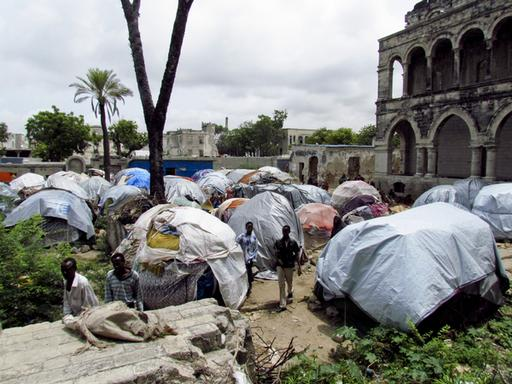 IDP camps in downtown Mogadisho - August 2011