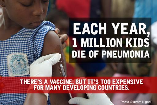 A Fair Shot 1 million pneumonia deaths infographic