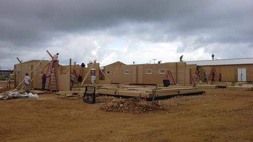Construction of the hospital in Guiuan