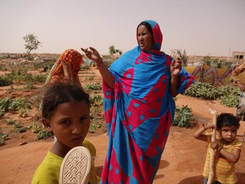 Refugees at Mbera camp in Mauritania's desert