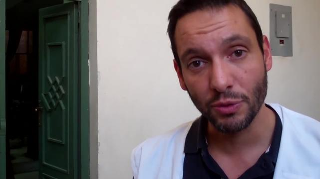 Cedric Dassas, emergency doctor, explains the need for training on Mass Casualty Response in Sana'a, Yemen (ARABIC)