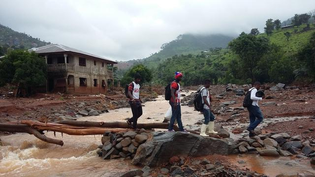 Landslides in Freetown