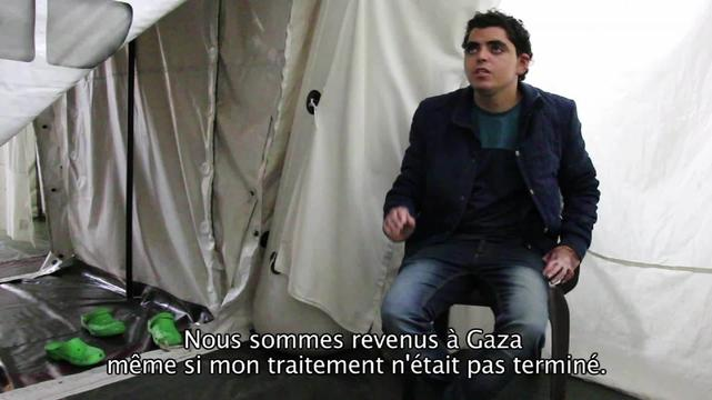 Nadir - patient story from Gaza (FR)