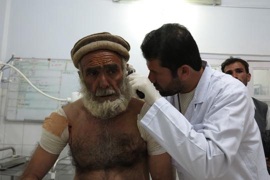 Emergency at Boost hospital Afghanistan