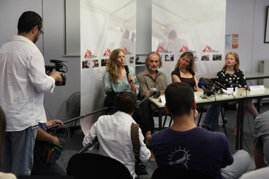 France, Paris, Syria Press Briefing, Eddy McCall / MSF, august 2012