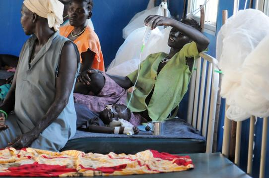MSF clinic in Doro refugee camp
