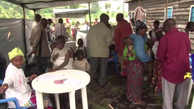 DRC: Preventing measles in displaced children