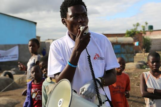 Zambia, cholera vaccination in Lusaka