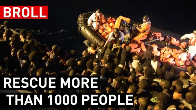 BOURBON ARGOS RESCUE MORE THAN 1000 PEOPLE AT SEA | BROLL