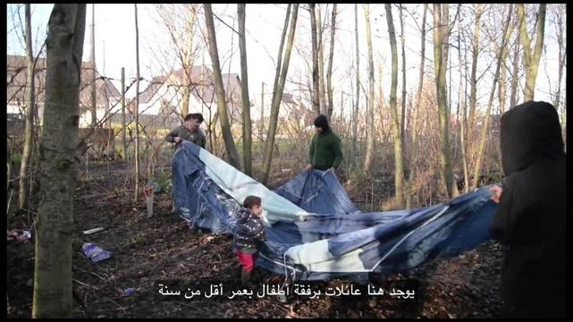 Webclip: Souleyman, refugee from Iraq, in Grande-Synthe (Arabic)