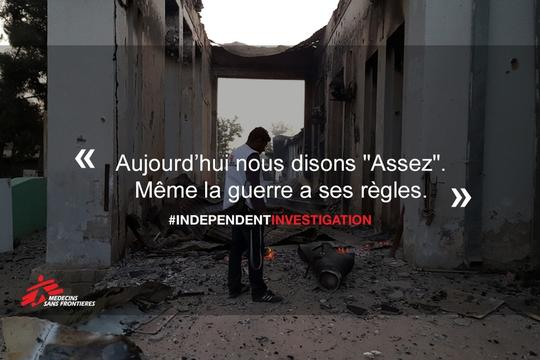 MEME: #INDEPENDENTINVESTIGATION Kunduz Hospital (FR)