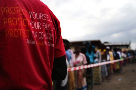 MSF protection kits distribution in West Point, Monrovia