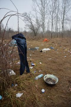 Asylum seeker in Serbia, JAN 2015