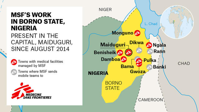 MAP MSF'S WORK IN BORNO STATE / ENG
