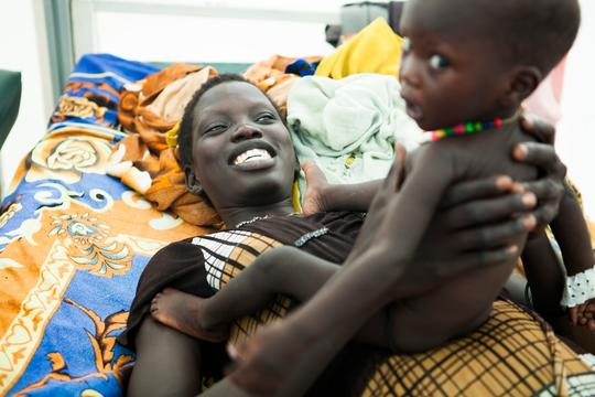Malaria and malnutrition in South Sudan, Bentiu PoC, Sept 2015 Brendan Bannon.