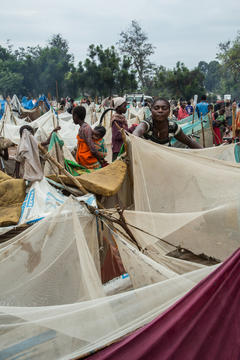 Displaced by interethnic fightings in Tanganyika province