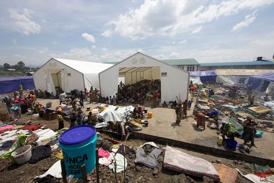 DRC, MSF emergency response activities, assistance to newly displaced people in and around Goma, MSF, dec 2012