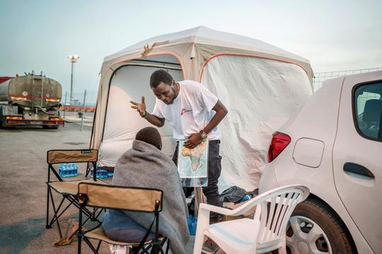 Trapani Italy - refugee reception and mental health