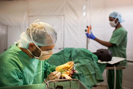 MSF Clinic: inpatient department and surgical capacity, Gogrial, Warrap State. South Sudan