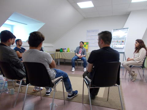 Psychosocial group session, Schweinfurt