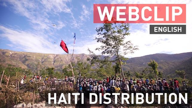 Aid Drops In Remote Areas Of Haiti - Web Clip - English