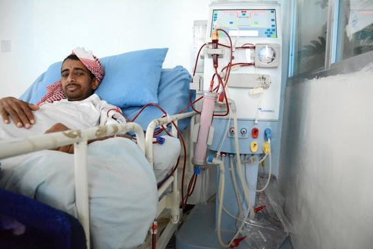 Dialysis center in Al-Jumhori hospital in Sana'a, Yemen