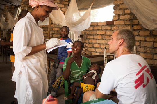 Measles Vaccination in Carnot, IDP camp, CAR