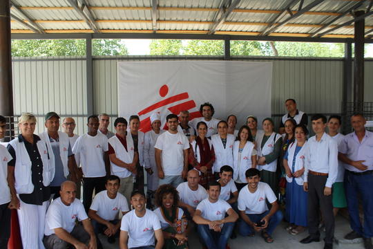 The MSF team are in a new waste zone in Kulob, Tajikistan