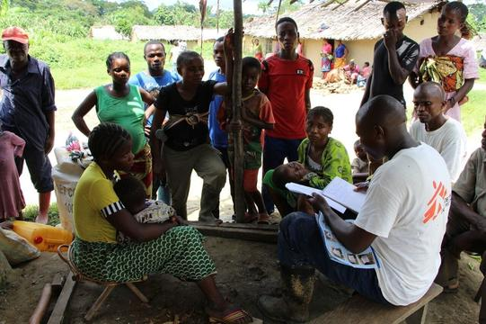 NFI distribution in Lulingu, DRC