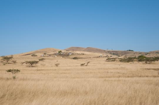 Landscape of the area where community heath agents go door to door offering free HIV testing, KwaZulu Natal, South Africa