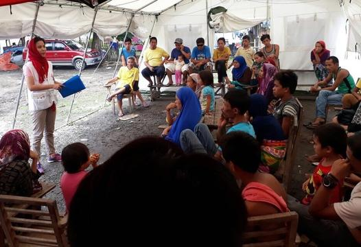 Support to displaced from Marawi combat