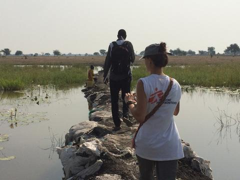 Outreach work close to Wau Shilluk