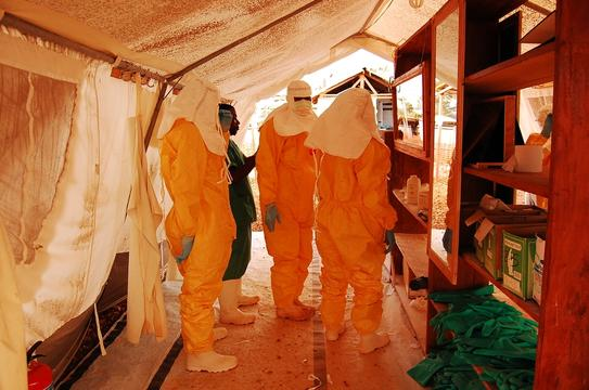 Ebola Case Management Centre in Kailahun, Sierra Leone