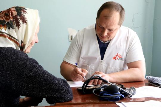 Primary health care in mobile clinics - Mariupol