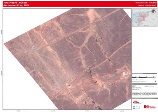 Satellite MAP Overview - Berm Jordan/Syria Border