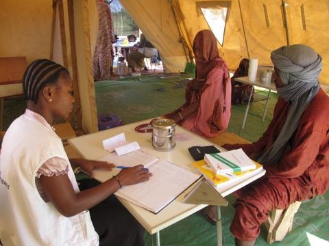 Malian refugees in the Oudalan province.