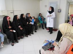 MSF Health facility,  Darvazeh Ghar district, south of the Grand Bazaar of Tehran.