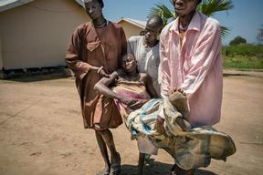 Seeking malaria treatment around Aweil, South Sudan