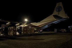Cargo for Philippines, Ostend Airport, Belgium