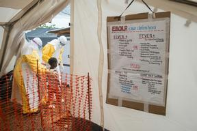 Ebola Treatment Centre in Kailahun, Sierra Leone