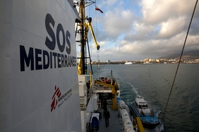 Aquarius: Departure from the port of Trapani