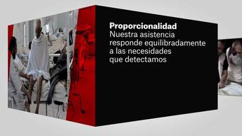 MSF = Humanitarian action. The principles of the humanitarian action - SPANISH