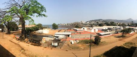 Rooftop view of Ebola Treatment Centre, Freetown