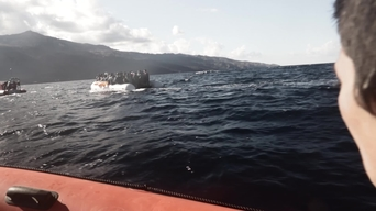 MSF/Greenpeace rescue operations in the Aegean Sea - INTERNATIONAL